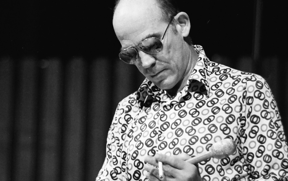 Hunter S. Thompson auf der Miami Bookfair International, 1988. (Bild: Wikimedia)